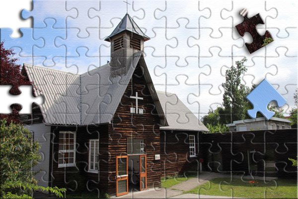 Une photo en puzzle du Temple protestant de Bordeaux Talence