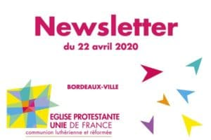 Visuel Newsletter du 22 avril 2020