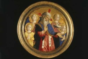God the Father with Four Angels and the Dove of the Holy Spirit - Giovanni Francesco da Rimini