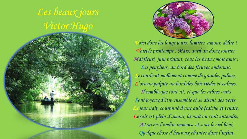 Montage PowerPoint photo et poème de Victor Hugo