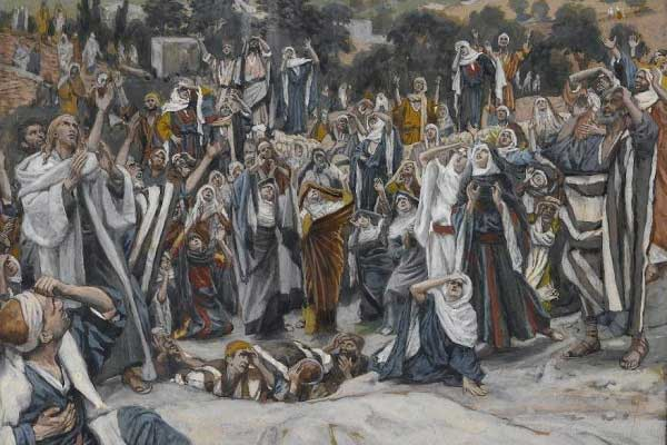 "Détail du tableau ""Ascension"" de James Tissot"